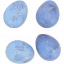 Quail egg natural matt, 2 colors, 3cm, blue matt